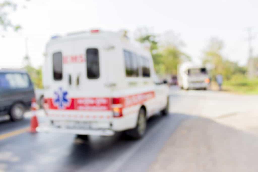 4 People Hospitalized after SUV and Ambulance Crash on Mono Street and H Street [Fresno, CA]
