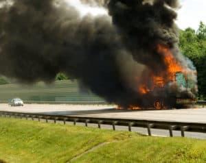 One Hospitalized After Fiery Crash on 15 Freeway [Fallbrook, CA]